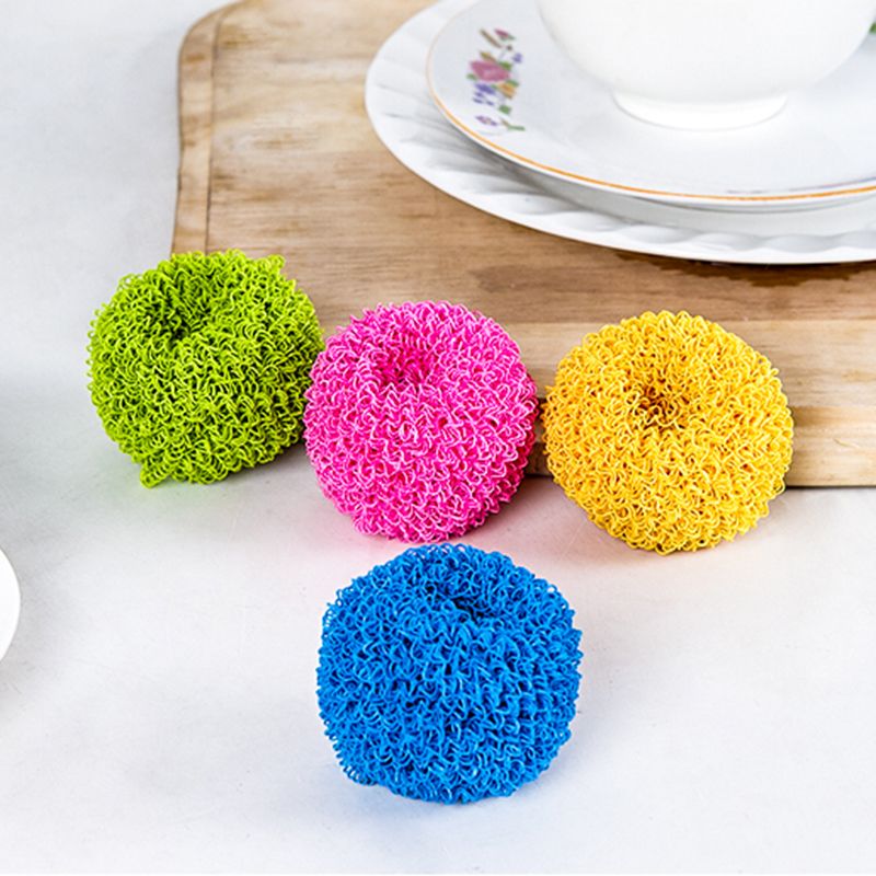 Hot Sale Kitchen Dishwashing Brush Multicolour Multifunction Cleaning Ball Wash pot bowl brush For Family Accessories