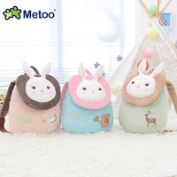 Metoo Brand Hot Sale Cartoon Plush Stuffed Doll Backpack Animal Bag Brinquedos Birthday Gift For Baby