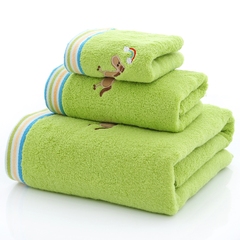 3Pcs/Set Baby towel +Baby Face Towel +Bath Towel newborn baby Stuff kids Toallas Cotton baby towel Set High Quality