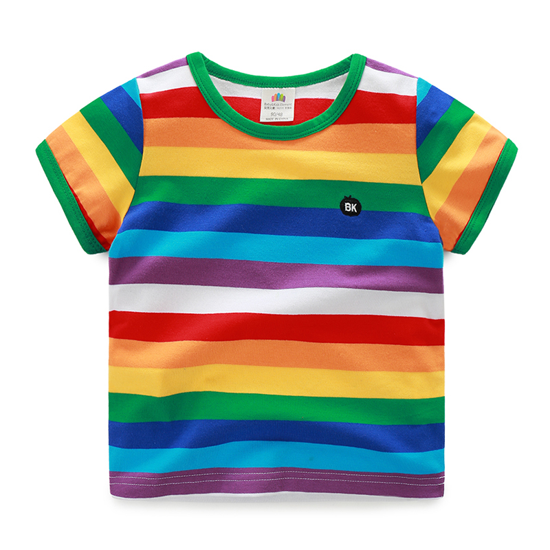 408373285 2016 Summer Male Children'S Clothing Child Baby Boy Rainbow ...