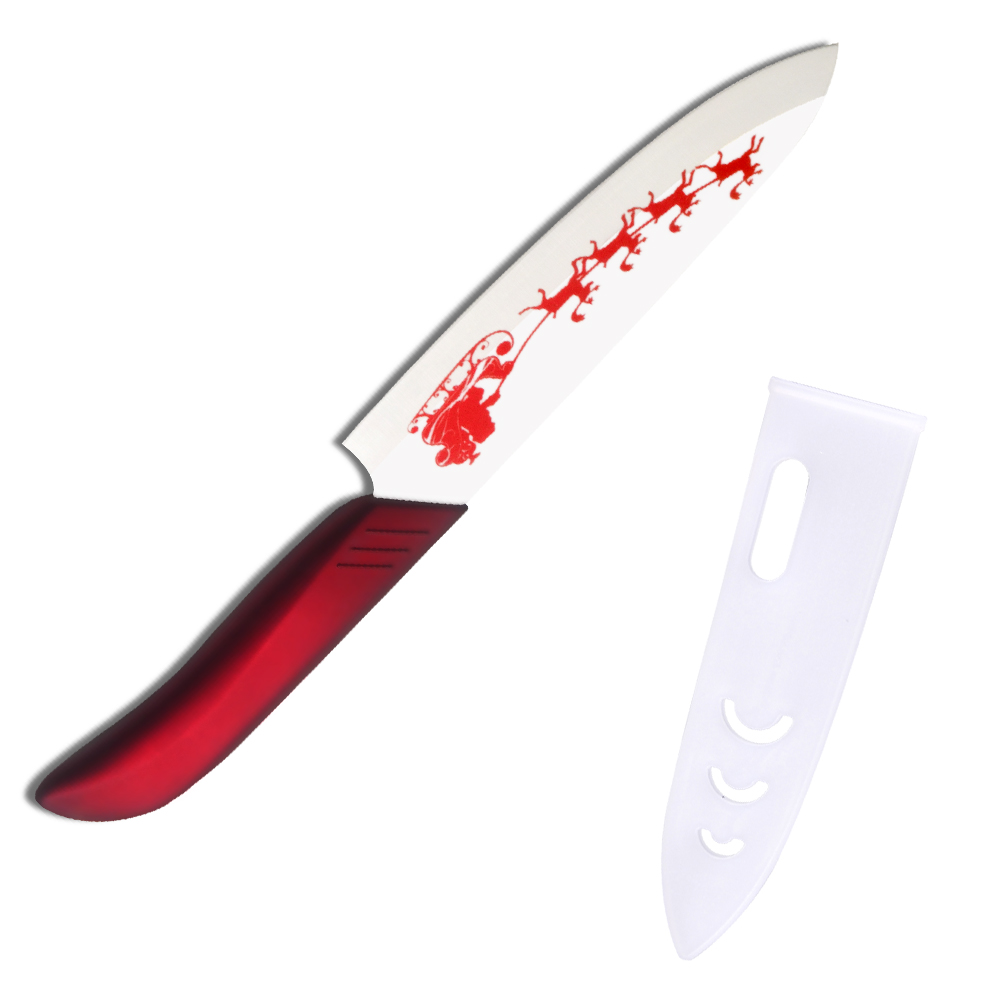 xyj brand red abs tpr handle ceramic knife 6 inch chef kitchen knife for cutting fruits. Black Bedroom Furniture Sets. Home Design Ideas