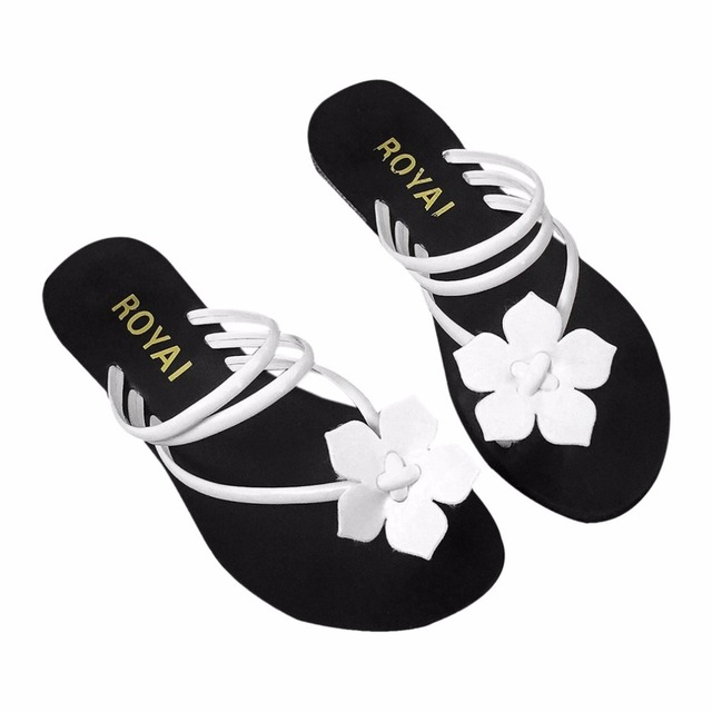 Outad summer women slippers shale for lady flower flip flops beach outad summer women slippers shale for lady flower flip flops beach shoes fashion slippers for girl mightylinksfo