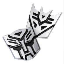 3D Car transformer personality decorative aluminium sticker For Benz w220 w202 w210 w203 w204 w163 w639  Car Styling Accessories недорого