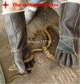 Anti cobra arbeitshandschuhe Perigo cão animal lagarto guantes de trabajo de Couro Espessamento Anti acupuntura Cortes de segurança luva
