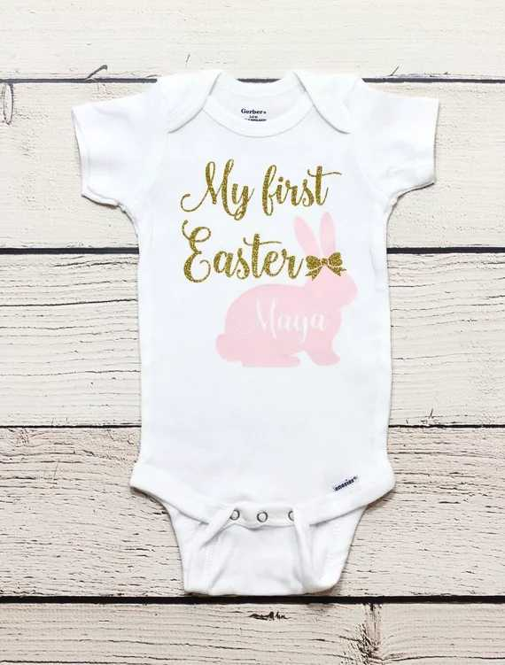 Mubineo My First Easter Baby Boy Girl Bunny Outfit Newborn Bodysuit Tops Pant Sets Clothes