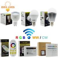 Mi Light 2 4G AC86 260V E27 6W Wifi RGBW LED Ball Bulb Lamp Wireless Color