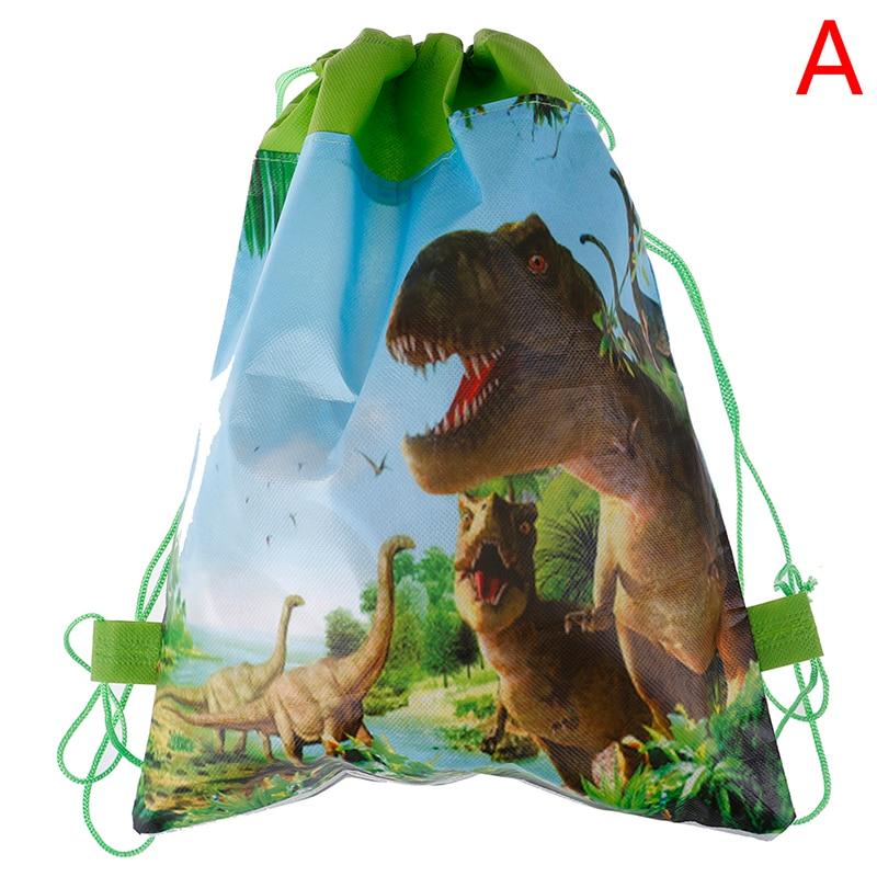 Подарки на день рождения, подарки на завязках для мальчиков, милые сумки с героями мультфильмов, мотив динозавра, украшенные нетканым материалом, детский душ - Цвет: design 1