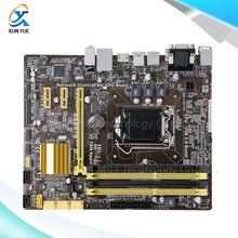 Для b85m-g оригинальный используется для рабочего материнская плата для intel b85 гнездо lga 1150 Для i3 i5 i7 E3 DDR3 HDMI DVI Micro-ATX На продажа