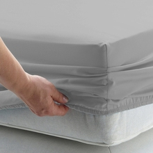 Solid Bed Sheet Fitted Sheet With Elastic Band Plain Bedding King Queen