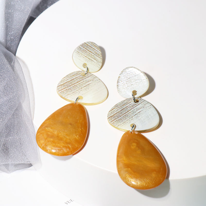 Large Resin Geometric Drop Earrings For Women 2019 New Antique Hanging Statement Earrings Long Design Party Jewelry in Drop Earrings from Jewelry Accessories