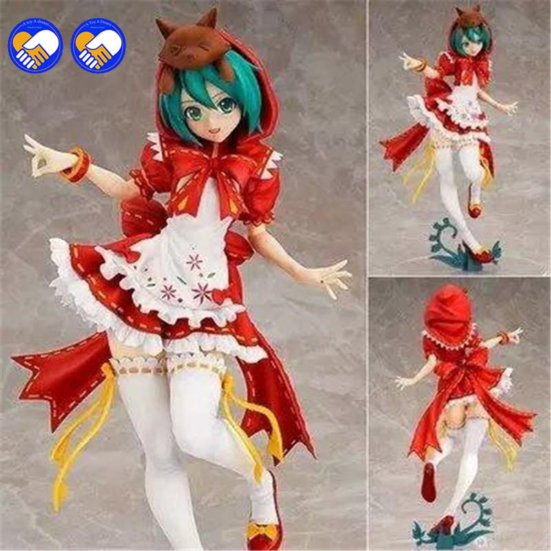 A toy A dream 23CM Hatsune Miku Action Figure Cute Large-Size Susan Miku The Little Red Riding-hood Doll PVC Figure Anime a toy a dream anime cute doll mf to love