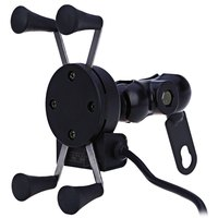 CS 328 X Type Motorcycle Stand Phone Holder 12V USB Charger Power Outlet Socket For IPhone