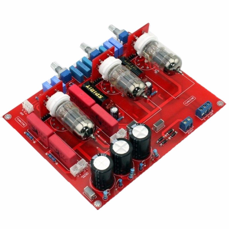 6N1-Tube-Amplifier-Adjustment-Tone-Volume-Control-Assembled