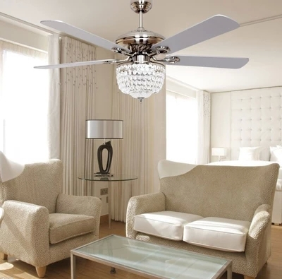European Minimalist Fashion Fan Ceiling Fan Light Led