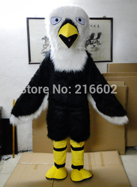 High quality Eagle Falcon Mascot Costume Fancy Dress Outfit Polyfoam for halloween party Free shipping