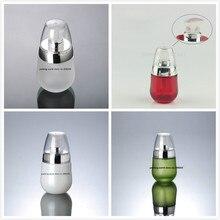 30 мл матовое/перламутровое/красное/бутылка из зеленого цвета с серебряным насосом для лосьона/эмульсии/основы/Сыворотка косметика для ухода за кожей упаковка