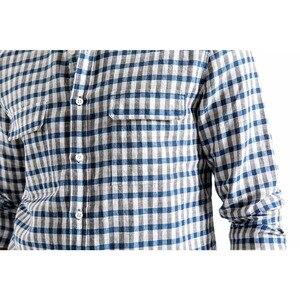 Image 3 - SIMWOOD dorywczo koszula mężczyzn marki pościel 2020 wiosna moda Streetwear z długim rękawem kratę koszule męskie Camisa Masculina 190174