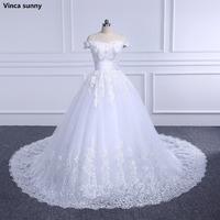 Gorgeous Ball Gown Wedding Dress With Lace Pearl Vestido De Novia Princes Vintage Wedding Dresses Real