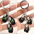 Spirited Away No Face man Kirsite Strand Pendants Key Chains Keyrings