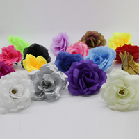100 Pieces 2.75 Inches (7 Cm) Classic Rose Artificial Silk Flower Heads Home Garden Decor Party & Wedding Favors FH07