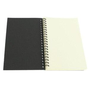 Image 4 - โน้ตบุ๊คสำนักงานหรือโรงเรียนเครื่องเขียนRetro Kraftขดลวดร่างSketchbooksโน้ตบุ๊คว่างเปล่าสีดำและสีขาว