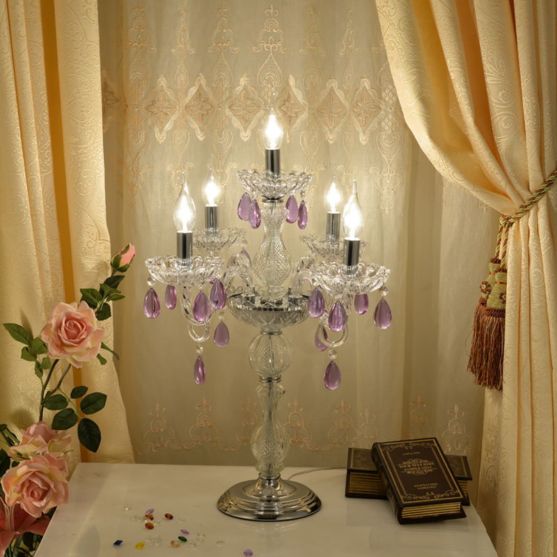 Aliexpress.com : Buy Stained Glass Table Lamp Candle Table Lamps Led Candle  Light Candlestick Table Lamp Wedding Light Table Decoration Desk Lighting  From ...