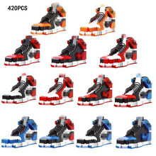 Hot famous brand sport shoe bull aj1 moc building block Chicago air jordan 1 assemable bricks model aj toys collection for gifts