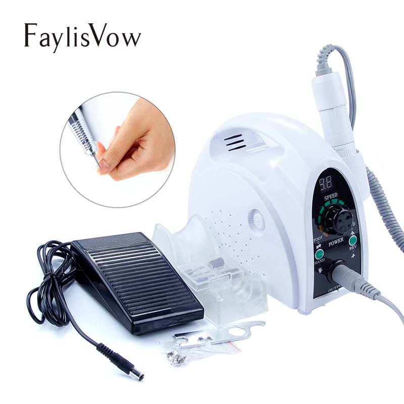 35000rpm Nail Electric Apparatus Horny Removal Machine for Manicure Nail Art Drill Bits Nail File Beauty Cutter Milling Machine