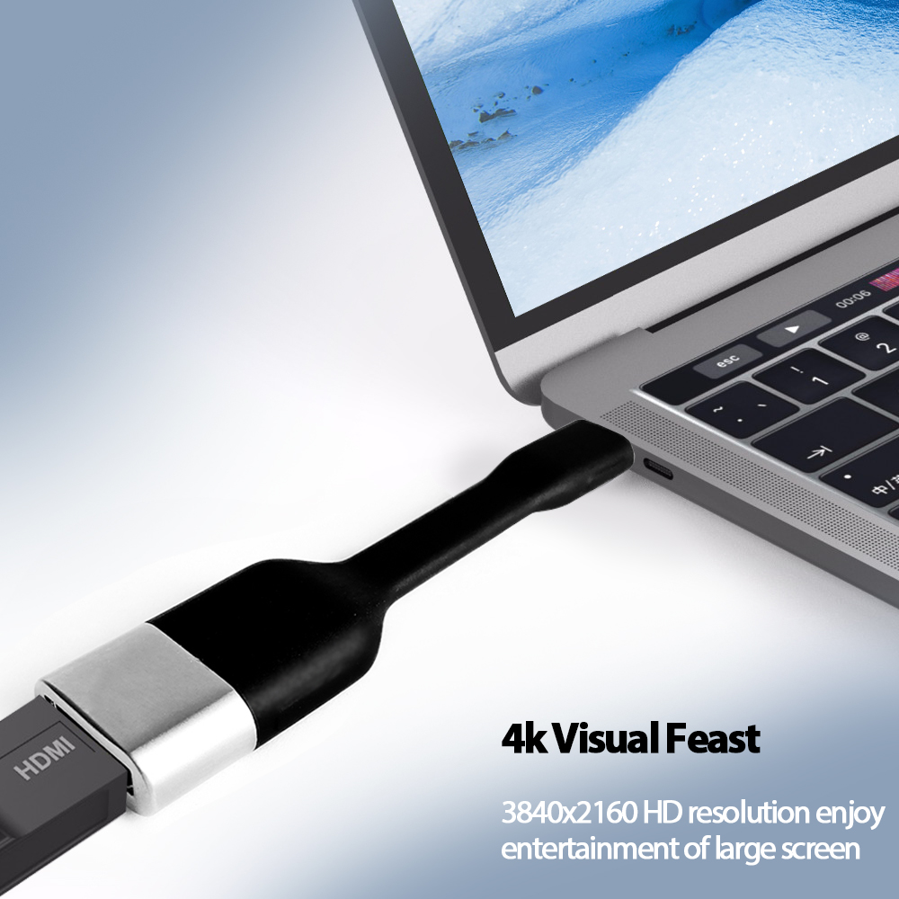 Image 4 - Vmade Newest Mini Type C USB C to HDMI Adapter Supports 4K 30Hz HD Signal Transfer USB 3.1 for TV/Monitors/Projectors Converter-in USB Hubs from Computer & Office