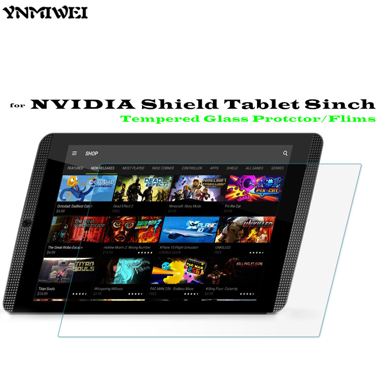 8.0 inch Shield Glass Screen Protector For NVIDIA Shield Tablet tempered glass screen Protector emblem