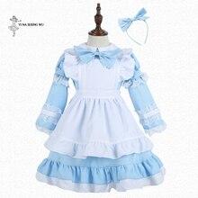 Disfraz de Alicia en el país de las maravillas para niña, disfraz de Halloween, Carnaval, traje de criadas, vestido disfraz, Lolita, uniforme de criada de Anime