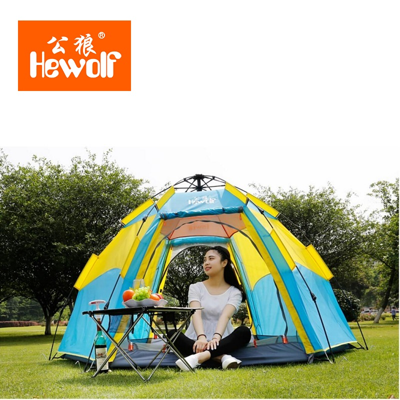 3-4 person Ultralight Large Family Tent Double Layer Four Season Camping Tent Sun Shelter Gazebo Waterproof Beach Tent octagonal outdoor camping tent large space family tent 5 8 persons waterproof awning shelter beach party tent double door tents