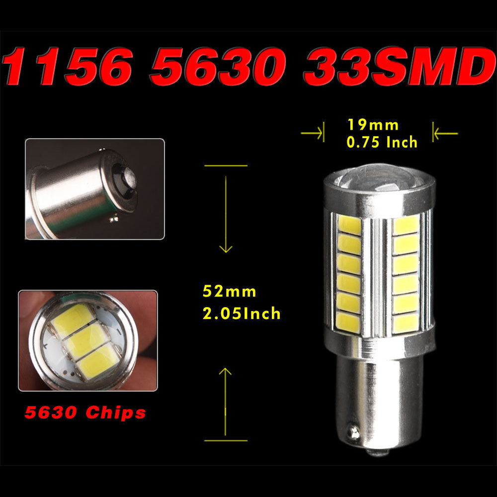 Image 5 - 2X 1156 White 33SMD RV Camper LED Interior Bulbs Backup Reverse Lights 1141 1073-in Car Headlight Bulbs(LED) from Automobiles & Motorcycles