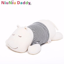 hot deal buy niuniu daddy 40cm/60cm super soft hippo baby pillows plush animals plush hippos stuffed animal doll toys baby product gifts