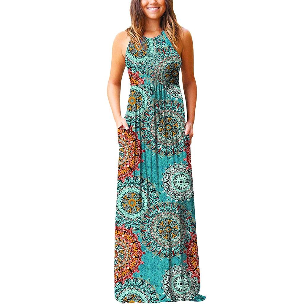 Vestido Halter De Flores para Mujer Vestido De Playa De Verano Vintage