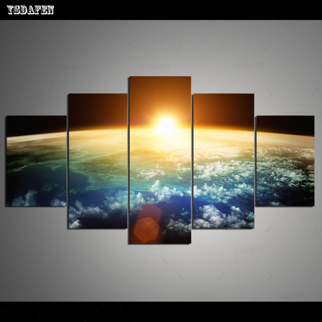 HD Printed Painting Canvas Printing Sunrise painting Room decor print poster picture canvas Framed Art HG-030