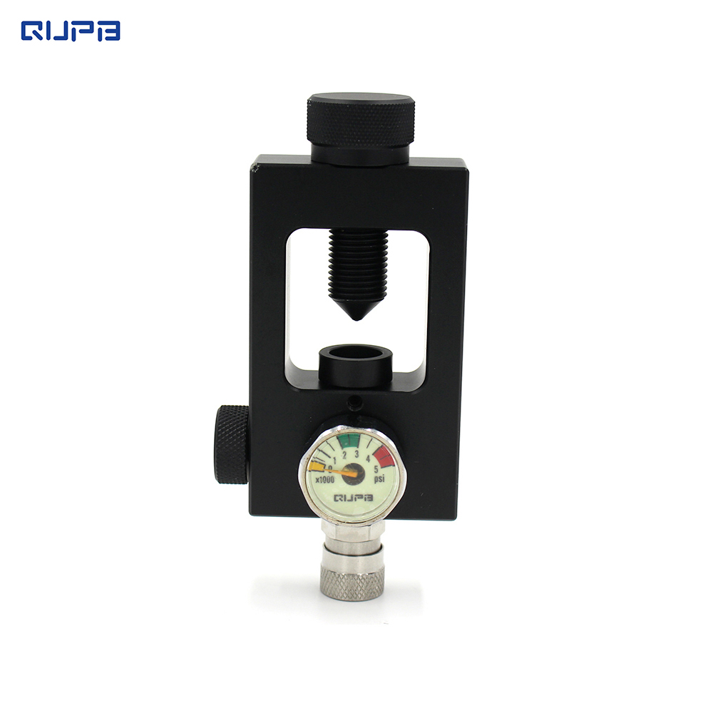 QUPB Paintball Scuba Yoke Fill Station W/304 Stainless Steel Quick Connect Hard Anodization 3000PSI Black Free Shipping SCB001