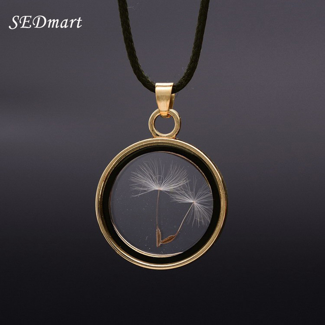 Sedmart real dandelions seed floating locket glass pendant necklace sedmart real dandelions seed floating locket glass pendant necklace womens novetly plants wish locket necklaces jewelry aloadofball Gallery