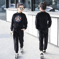 Trendy Double Sided Velvet Girl S Clothing Set 2017 Girl S Hoodies Pants Clothing Sets Fashion