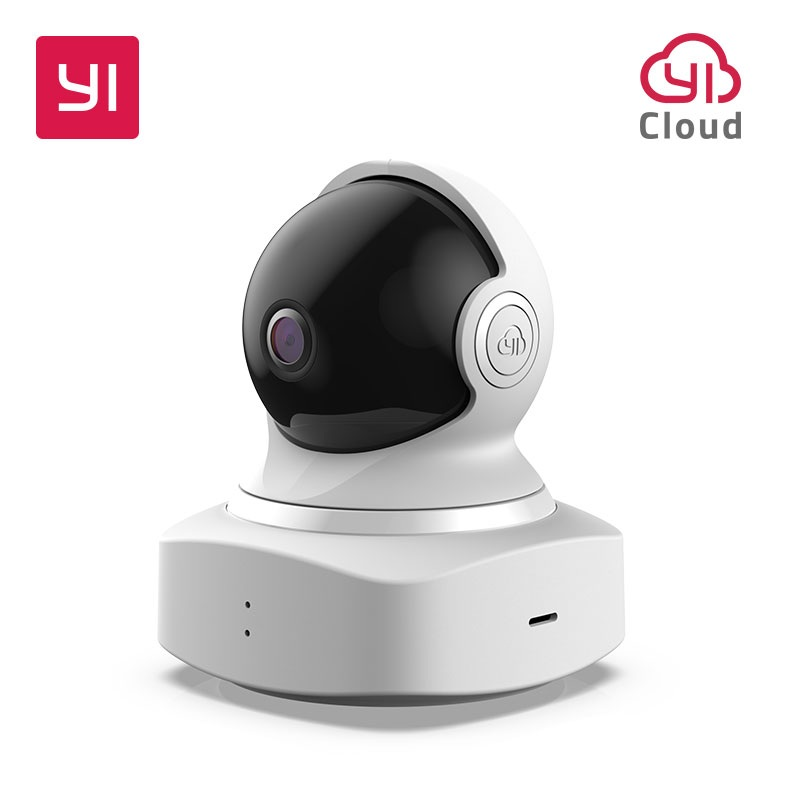 [international edition] xiaomi yi dome camera 1080p fhd 360 degree 112 wide angle pan tilt control two way audio yi dome camera YI Cloud Dome Camera 1080P Pan/Tilt/Zoom Wireless IP Night Vision Baby Monitor 360 Degree Coverage Night Vision 2018 NEW Global