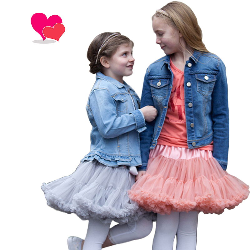 Buenos Ninos 20 Colors Vintage dusty pink/Silver gray/Wine/Navyblue Baby Girl Fluffy Pettiskirt Girls Tutu Skirt Kids Petticoat rhinestone i like bows white pettitop top shirt dusty pink bow pettiskirt dress set 1 8y mapsa0536