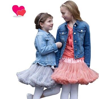Buenos Ninos-jupon duveteux pour filles | Jupe Tutu pour enfants, couleurs Vintage, rose poussiéreux, gris argenté, vin, bleu de marine, 20 couleurs