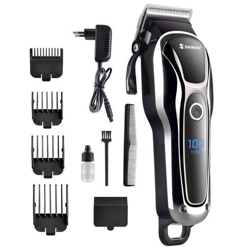 Tondeuse à cheveux Rechargeable professionnelle pour hommes coupe-cheveux électrique LCD coupe-cheveux coupe de cheveux pour Salon
