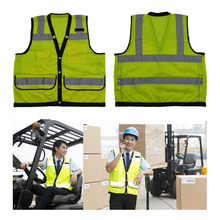 High Vis Reflective Vest with Reflective Polyester Fabric security clothes Free delivery