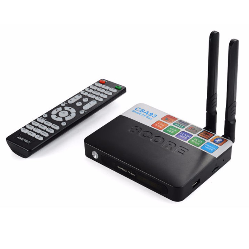 3GB RAM 32GB ROM Android 7.1 TV Box CSA93 Amlogic S912 Octa Core 2GB 16GB Smart Media Player Wifi Bluetooth 4.0 4K TV box eu us plug cs918s andriod 4 4 smart tv box quad core 2gb ram 16gb rom built in bluetooth 3g wifi android tv box newest in 2017