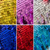 1 Yard High Quality Sparkly Embroidery Mesh Lace Gold Silver Sequin Fabric For Clothes Party Christmas