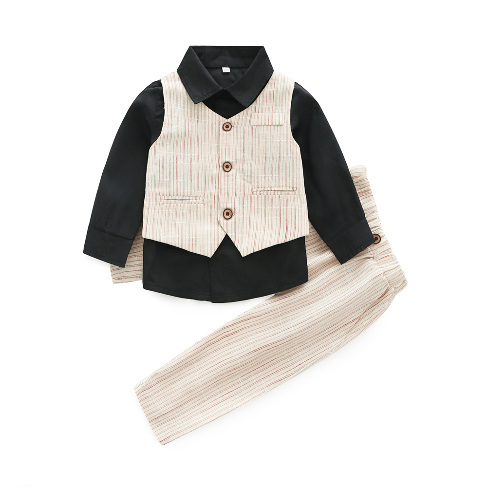 Formal Clothing Sets For Baby Boys Party Wedding Clothes Suits Spring Newborn Gentleman Baby Boy Outerwear Cloth Set Outfits Set boys clothing set striped vest pant shirt suits formal outfits kids school uniform baby children wedding party boy clothes sets