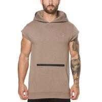 Erkek Zip Cep Kolsuz Hoodies Moda Rahat Kapüşonlu Sweatshirt Erkekler Hip Hop Hoodie erkekler Spor Yüksek Kalite