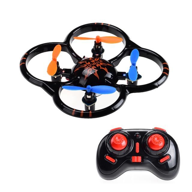 Bolso Nano RC Quadcopter Drone Nihui U207 Mini Helicóptero 3D virar UFO com Luz LED Controle Remoto Brinquedo do Miúdo das Crianças presente