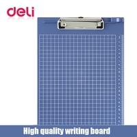 Deli 1pcs A4 document bag file folder clip board business office financial school supplies writting plastic made board